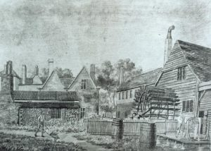 Merton Abbey Mills calico works in the 1820s
