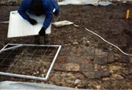 Recording a tile floor within the main church